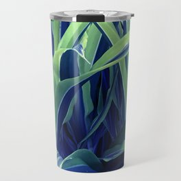 Exotic, Lush Blue and Green Leaves Travel Mug