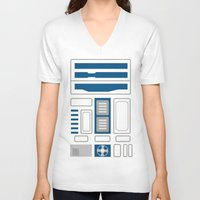 r2d2 V-neck T-shirts featuring R2D2 by Alison Lee