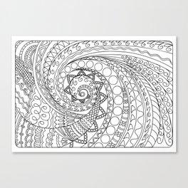 abstract zen tangled pattern swirl -2 Canvas Print