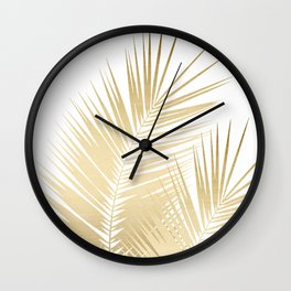 Gold Palm Leaves Dream - Cali Summer Vibes #1 #tropical #decor #art #society6 Wall Clock