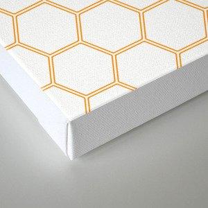 Honeycomb - Orange #271 Canvas Print