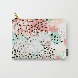 Phoebe - abstract painting minimal gender neutral trendy nursery decor home office art Carry-All Pouch