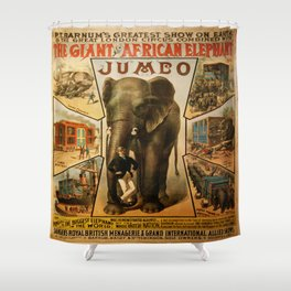 Vintage poster - Jumbo Shower Curtain