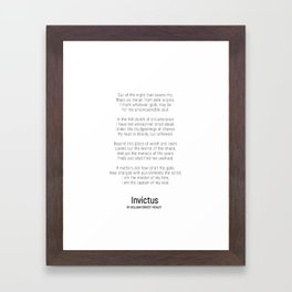 Invictus by William Ernest Henley #minimalist #poem Framed Art Print