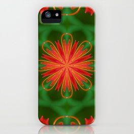 Ruby Red Spider Lily Kaleidoscope iPhone Case