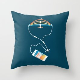 Choose what to listen Throw Pillow