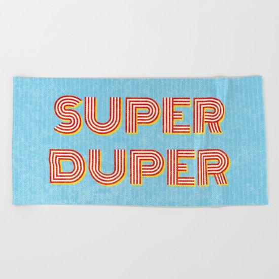 Super-Duper Beach Towel