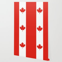 Red and White Canadian Flag Wallpaper
