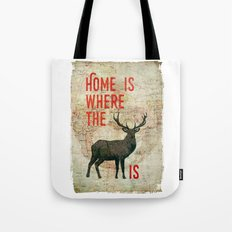 home is where the h(e)art is Tote Bag