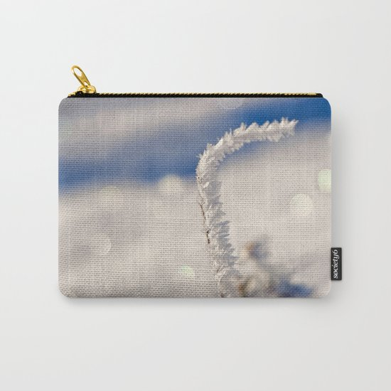 Sparkling hoar frost I Winter Snow Ice Sun Carry-All Pouch