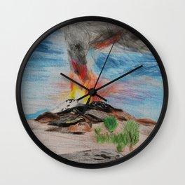 Volcán / Volcano Wall Clock