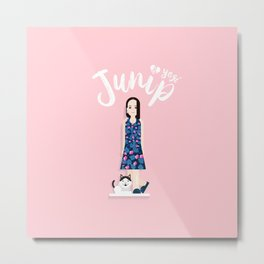 Junip and Yogi Metal Print