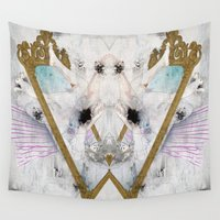 glass Wall Tapestries featuring Looking-Glass by SEVENTRAPS