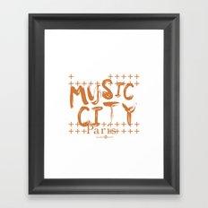 Music City Paris Framed Art Print