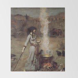 The Magic Circle, John William Waterhouse Throw Blanket