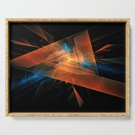 Triangular abstraction Serving Tray