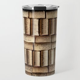 Wine corks close up Travel Mug