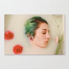 Floral Milk Bath Canvas Print
