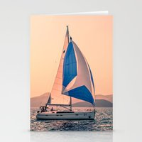 racing Stationery Cards featuring  Yacht racing by Svetlana Korneliuk