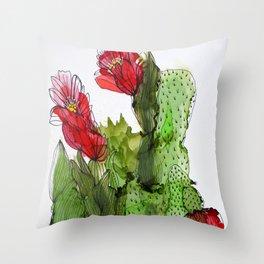 Qui s'y frotte s'y pique _1 Throw Pillow