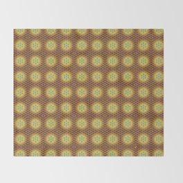 VIRGO sun sign Flower of Life repeat pattern Throw Blanket