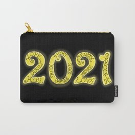 Year 2021 Gold Glowing Inspiring Message  Carry-All Pouch
