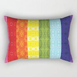 TorsoPattern Gay Pride Flag (Original 8-Color) Rectangular Pillow