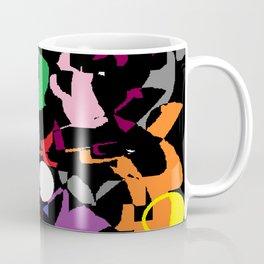 Black Multi Color Paint Splash Coffee Mug