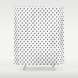 BOMB PATTERN - BLACK - SMALL Shower Curtain