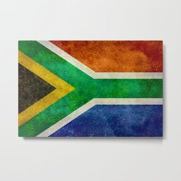Flag of South Africa, Bright Vintage Textures Metal Print