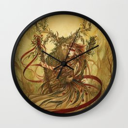 Beltane Wall Clock