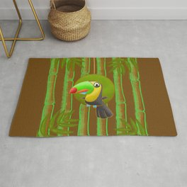 Excited Toucan! Rug