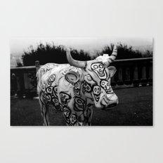 Skull Cow Canvas Print