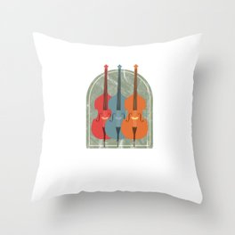 Retro Cello Musician Player Awesome Cellist Throw Pillow