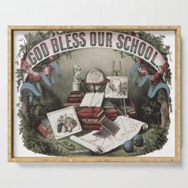 GOD BLESS OUR SCHOOL Pop Art Serving Tray