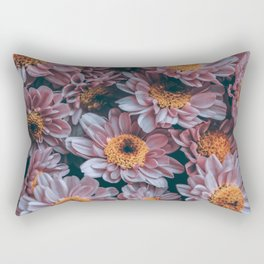 Purple Flowers Rectangular Pillow