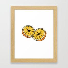 Mi Media Naranja Framed Art Print
