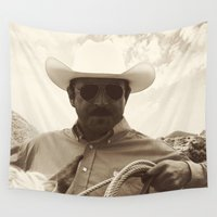 cowboy Wall Tapestries featuring Cowboy by DistinctyDesign
