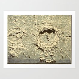 The story of the sun, moon, and stars (1898) - The Lunar Crater Copernicus Art Print