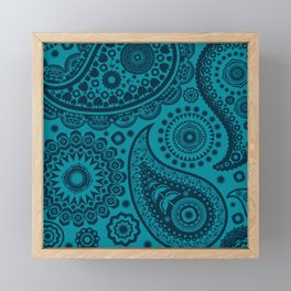 Paisley Pattern Framed Mini Art Print