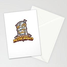 Lustiges Mumien Motiv - Mumie wird gestört in ihrer Ruhe Stationery Cards