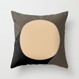 Beige Circle Throw Pillow