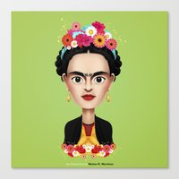 frida Canvas Prints featuring Frida by Matias G. Martinez