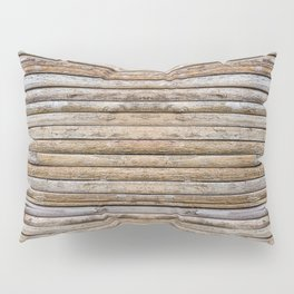 Wood Effects Raw Wood Log Cabin Lodge Rustic Pillow Sham