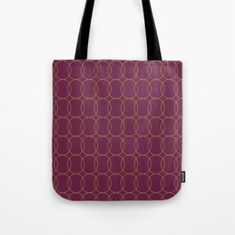 Fly Home Collection-  Circle Pattern Deep Red Violet  Tote Bag