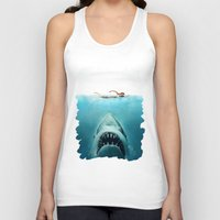 jaws Tank Tops featuring JAWS by Smart Friend