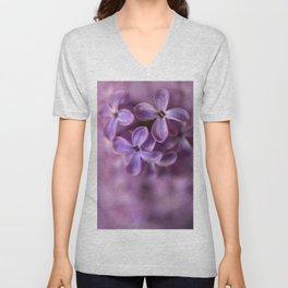 Fresh Lilac flowers Unisex V-Neck