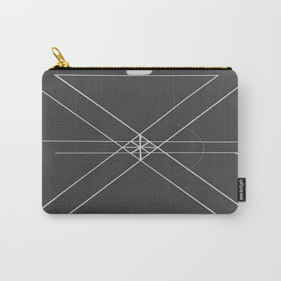 Gray Lines and Crossings Carry-All Pouch