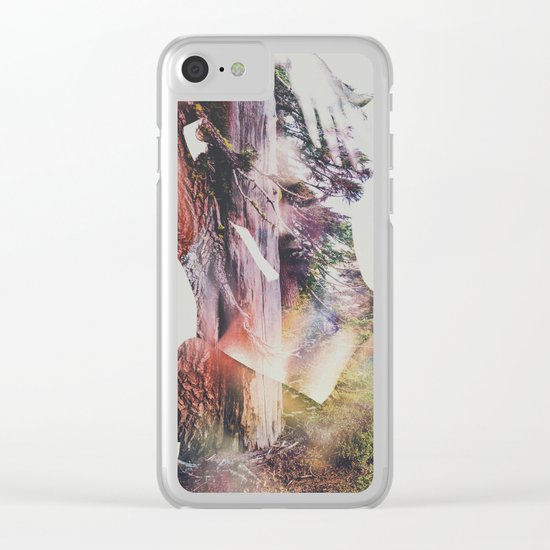 Wilderness Heart I Clear iPhone Case