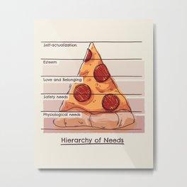 Hierarchy of Needs Metal Print